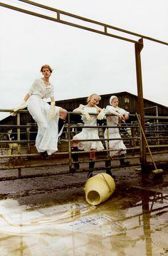 Clara Overgaard, Kadri Vahersalu, Lærke Simone by Michal Pudelka for Vogue Japan March 2016 8