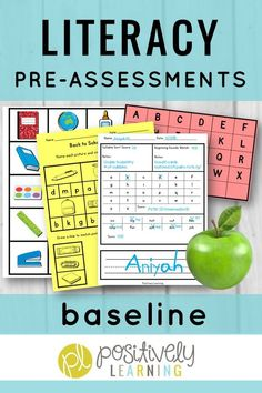 Baseline assessments for both literacy and math. I use them every year as I meet my new students. These activities provide information on students' strengths and areas of concern. The assessments are administered individually or in small groups. Use this set all year as progress monitoring! #datacollecting #progressmonitoring