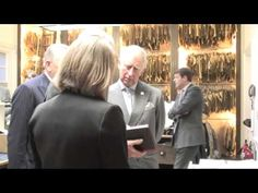 (176) The Prince of Wales visits Savile Row tailor Anderson & Sheppard - YouTube