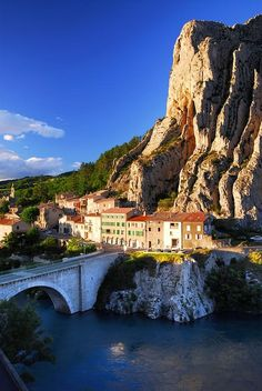 Town of Sisteron, Provence, France