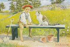 Watercolor by Jenny Nyström (1854-1946), Sweden