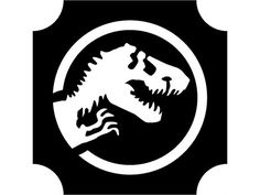 Jurassic World 01 stencil