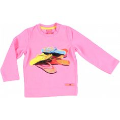 Roze T-shirt met slippers - Kidz-art