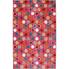 Mohawk Home American Rug Craftsmen Crib 2 College Kids Hot Pink Rug