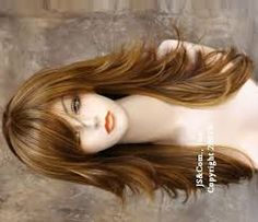 long layered haircuts with side fringe - Google Search