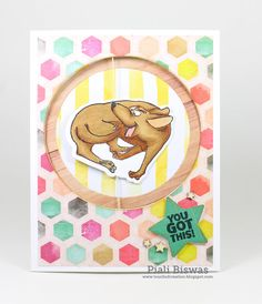 Art Impressions Rubber Stamps: Ai Spinners: Dog Spinner (4675) Dog Spinner Dies (4694) ... handmade card. interactive