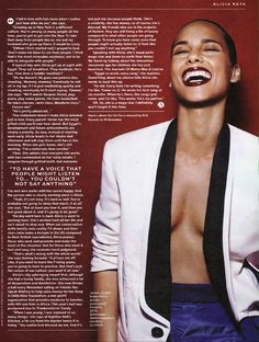 Alicia looking smoking hot in Stylist (UK).