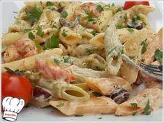 ΟΙ ΠΕΝΕΣ ΤΟΥ ΧΩΡΙΑΤΗ!!! - Νόστιμες συνταγές της Γωγώς! Pasta Salad, Meat, Chicken, Ethnic Recipes, Food, Crab Pasta Salad, Essen, Meals, Yemek