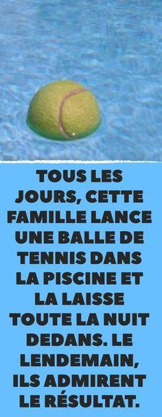 Nettoyez votre piscine en toute simplicité avec une balle de tennis