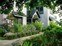 Natural Entryway Garden