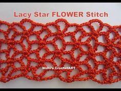 How To Crochet- Lacy Star FLOWER Stitch Tutorial