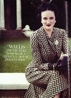 Wallis Simpson loved to put on a good show (a narcissistic trait?).