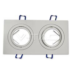 4,06€ 2*GU10 Corpo Quadrato Bianco  SKU: 3607 | VT: VT-783