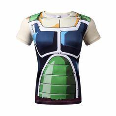 Dragon Ball Z 3D Short Sleeve Armor Anime T-Shirt - OtakuForest.com