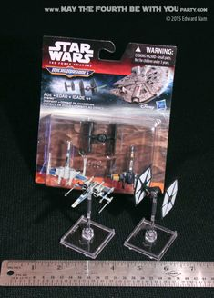 Magnetized Tie Interceptor Star Wars X-Wing 2.0 Ready Pose-able Miniature