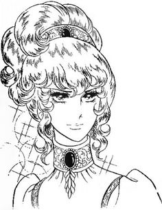 Versailles no bara Adult Coloring Pages, Coloring Books, Star Crossed Myth, Lady Oscar, Angelina Ballerina, Manga Artist, Manga Anime, Character Design, Fan Art