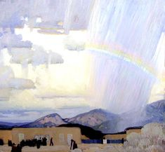 Victor Higgins,  Walking Rain (Pablita Passes), ca. 1916-17, o/c
