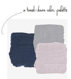 "pretty, paint, color, palette, for a ""Frozen"" room, Navy, lavender,  gray"