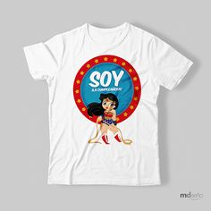 Hero Girl, Wonder Woman, Flat Design, Superhero, Party, Mens Tops, T Shirt, Ideas, Women