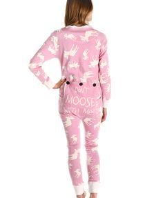 1a9047992e Classic Moose Pink Flapjack Family Christmas Pajamas
