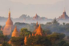 The ancient city of Bagan, with it's 2,500 Buddhist pagodas and temples, is one of the richest and least-visited ruins. Photo Getty Images.