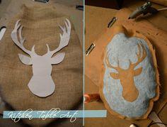 Kitchen Table Art: Burlap Craft! Burlee like buck tutorial