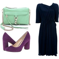"""dark blue mint purple 3"" by noanyedges on Polyvore"