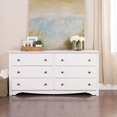 Prepac Monterey White 6-Drawer Dresser