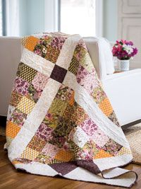 Crossed Paths Quilt Kit (with video) @fonsandporter