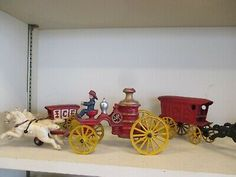 Cast Iron, It Cast, Horse Drawn Wagon, Horses, Free Shipping, Toys, Ebay, Products, Activity Toys
