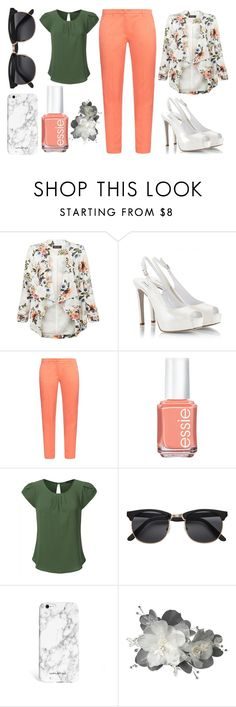 """""""Untitled #280"""" by computergeek15 ❤ liked on Polyvore featuring New Look, Fratelli Karida, Weekend Max Mara and Essie"""