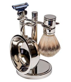 For the dad who needs a close shave every day, make the experience a pleasure with this four-piece silver-plated shave set, complete with a lather brush, soap dish, razor and stand. It's the perfect way to start the day in style. Silver-Plated 4-Piece Shave Set, $28.99; Target.com.