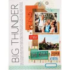 Big thunder scrapbook layout