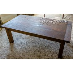 A rustic table with the flavor of the Lone Star State! Solid pine, hand-planed, aged & distressed for a beautiful antique patina.