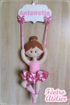 Kids Crafts, Doll Crafts, Baby Crafts, Felt Ornaments, Christmas Ornaments, Felt Puppets, Felt Banner, Ballerina Birthday, Baby Pillows