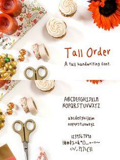 Tall Order- a Tall Handwriting Font