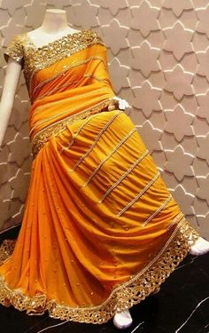 Vyh Simple Sarees, Trendy Sarees, Stylish Sarees, Fancy Sarees, Blue Silk Saree, Bridal Silk Saree, Satin Saree, Saree Blouse Neck Designs, Saree Blouse Patterns