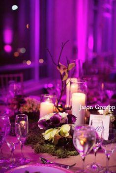 indian wedding reception lighting decor http://maharaniweddings.com/gallery/photo/5593