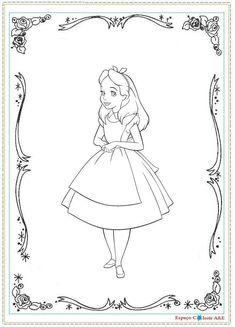 Desenhos para colorir - Alice no país das maravilhas para colorir