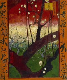 van Gogh inspired by Japanese woodcut