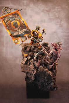 Imperial Fist Captain last stand against attacking Tyranid Ravener.