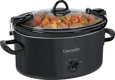 Crock-Pot - Cook and Carry 6-Qt. Slow Cooker - Black, SCCPVL600-B