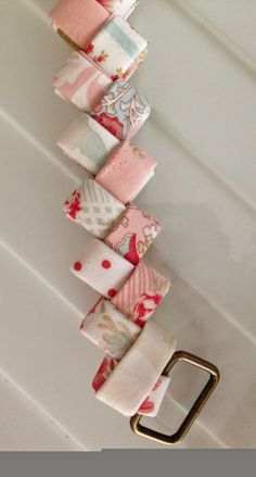April Cornell, Paper Chains, Candy Wrappers, Purses And Bags, Origami, Recycling, Arts And Crafts, Handle, Holiday Decor