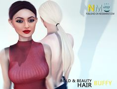 Second Life Free Group Gift Buffy Hair Fatpack