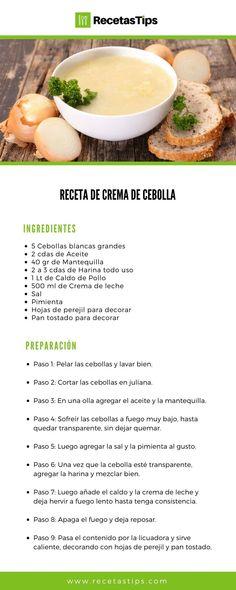 This recipe will teach you how to prepare homemade onion cream easily and quickly. Recipes made recepies recipes de ensalada almuerzos faciles y saludables Vegan Foods, I Foods, Cream Recipes, Healthy Recipes, Easy Recipes, Quick Meals, Onion, Food And Drink, Yummy Food