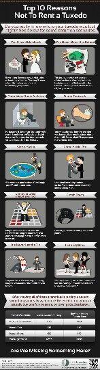 Top 10 Reasons Not To Rent A Tuxedo #infografía