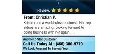 Kristin runs a world-class business. Her rep videos are amazing. Looking forward to doing...