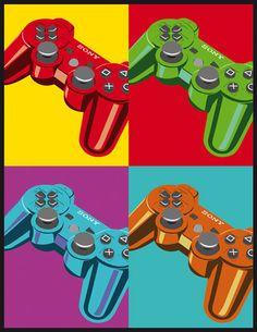 controller pop art [Via DeviantART]