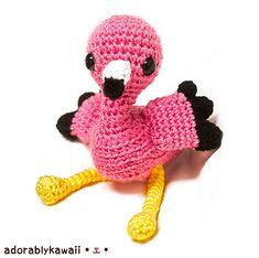 Ravelry: Pink Flamingo Amigurumi pattern by Amanda Michelle