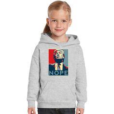 Nope Trump Kids Hoodie
